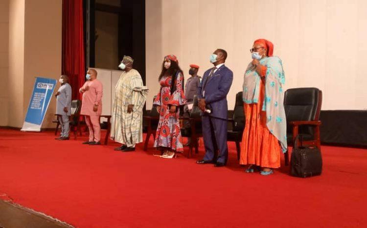 ouverture officielle de la 4ème édition du Parlement Jeunesse tenue, ce 08 février 2021 au Palais des Congrès de Yaoundé.